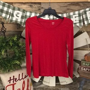 🍁Red long sleeves shirt
